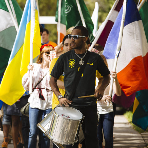 Students at the Celebration Of Nations parade