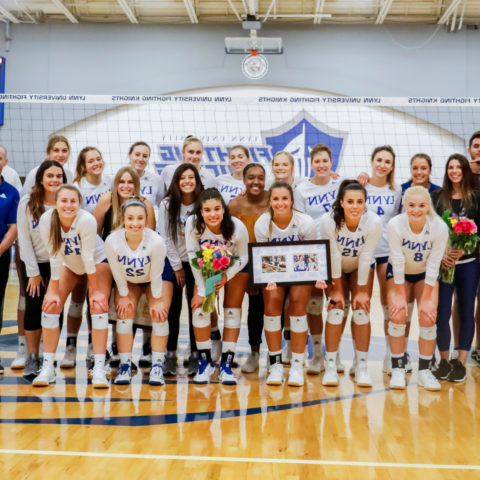 Lynn volleyball wins Sunshine State Conference championship.