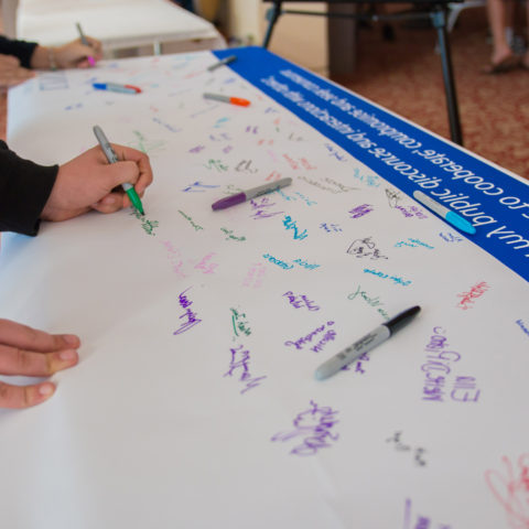 Students sign Civility Pledge to be more civil.